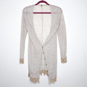Free People | Off White Speckled Lace Cardigan S